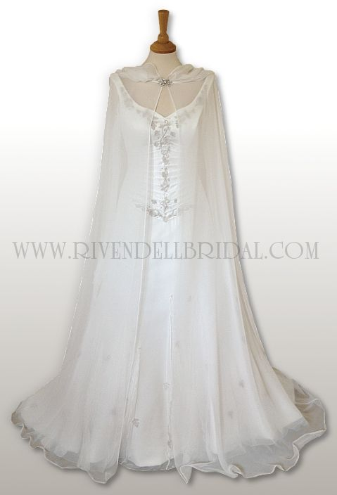 Id get the see through cape instead of a veil :)but in white.