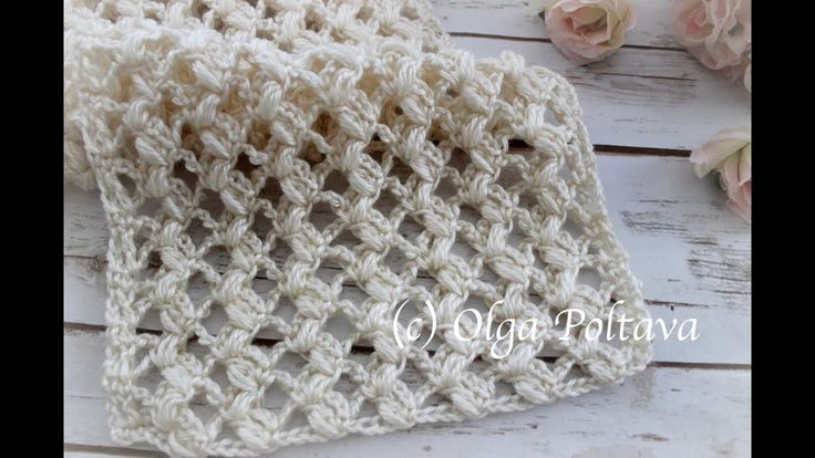 How to Crochet Easy Lacy Puff Stitch Scarf, Crochet Video