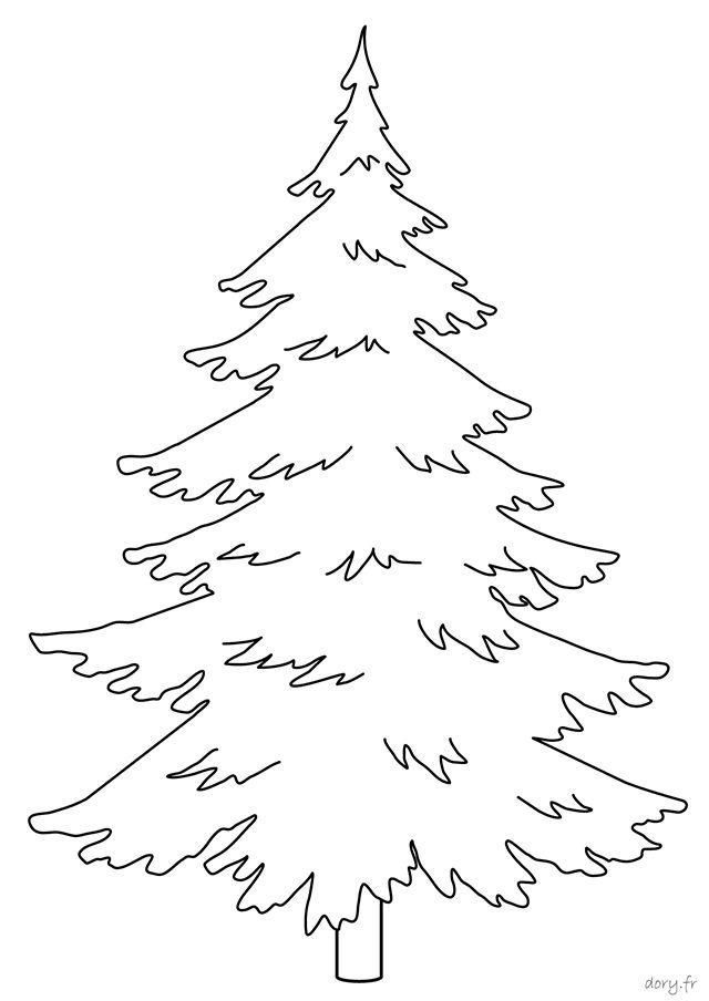 Un sapin | Coloriage, Christmas tree design, Sapin dessin