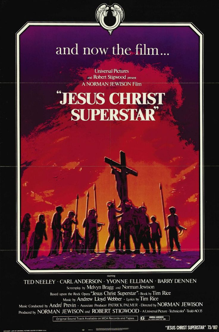 Jesus Christ Superstar (1973).  Mom spoke highly of this.  So I watched it, then told her it was sacrilegious.  This was a stoned-out gossip movie?!?  Score: 1.5