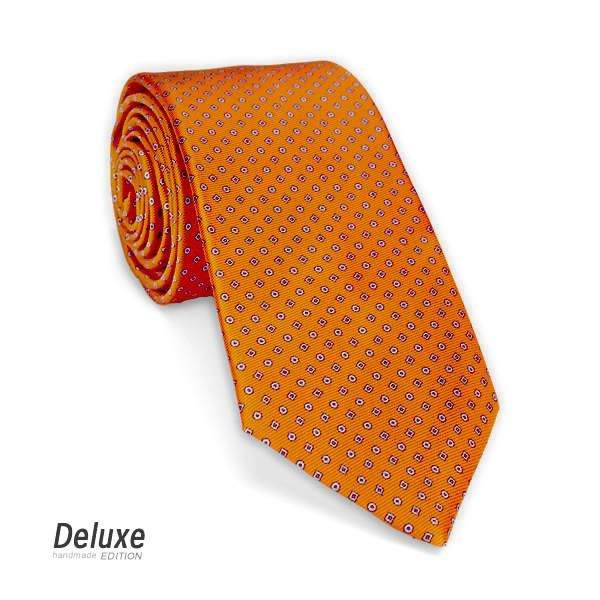 Italian Silk Tie in Orange