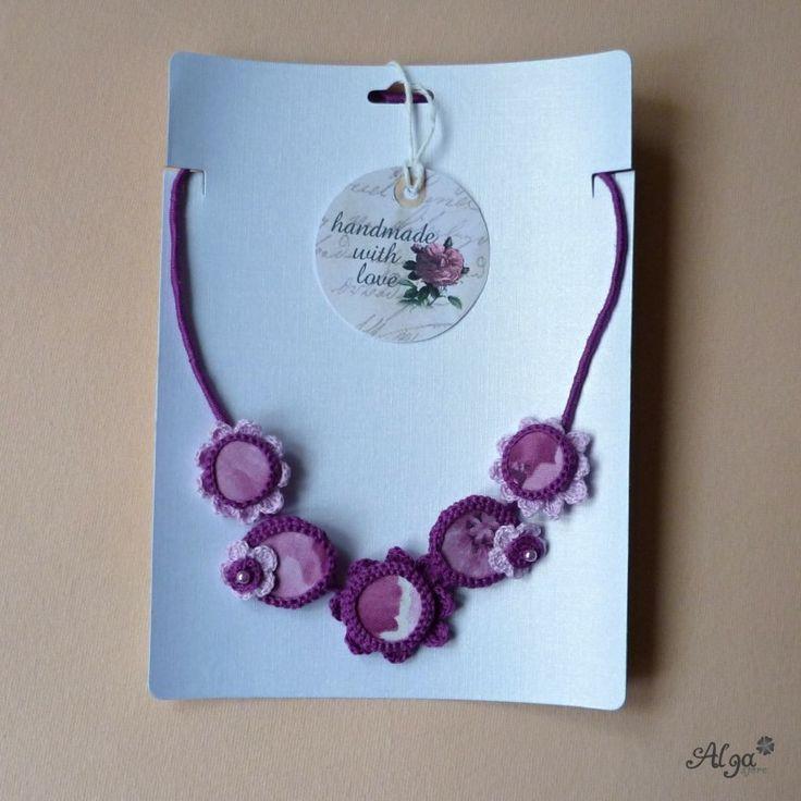 Náhrdelník Bouquet Lilac http://www.algastore.cz/hackovane-sperky