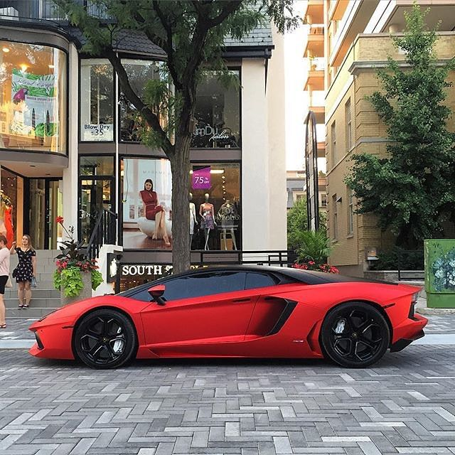 Satin Red Aventador Go Follow @FeedMyCars For Daily Posts Of Exotic Cars!  @FeedMyCars
