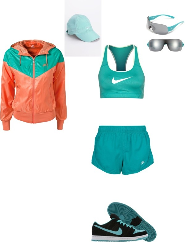 """Nike Running Outfit"" by ewailgum on Polyvore"