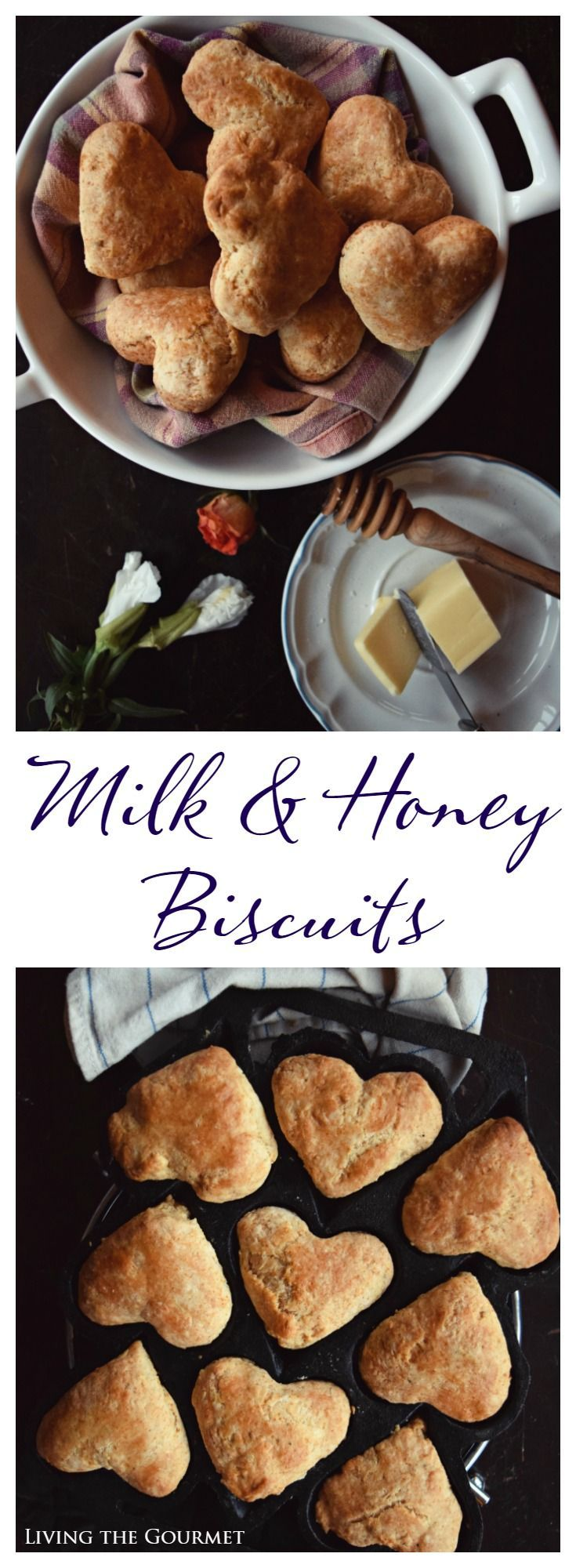 """These buttery milk & honey biscuits are a perfect accompaniment to your favorite winter dish and so easy to make in a pinch. """"If you were born with the weakness to fall you were born with the strength to rise."""" -Rupi Kaur There is a book called Milk and Honey and I'm not sure if..."""