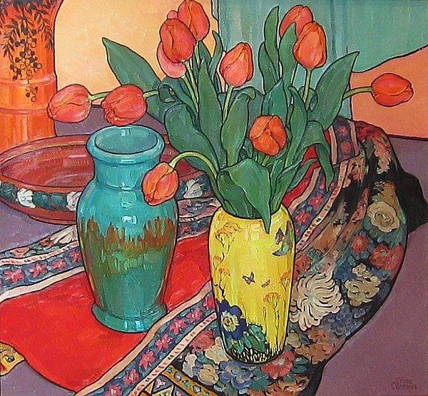 Tulips and Kimono, Criss Canning