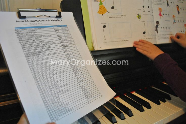 Mary Organizes » How To Teach Piano Lessons At Home With Free Piano Lesson Plans