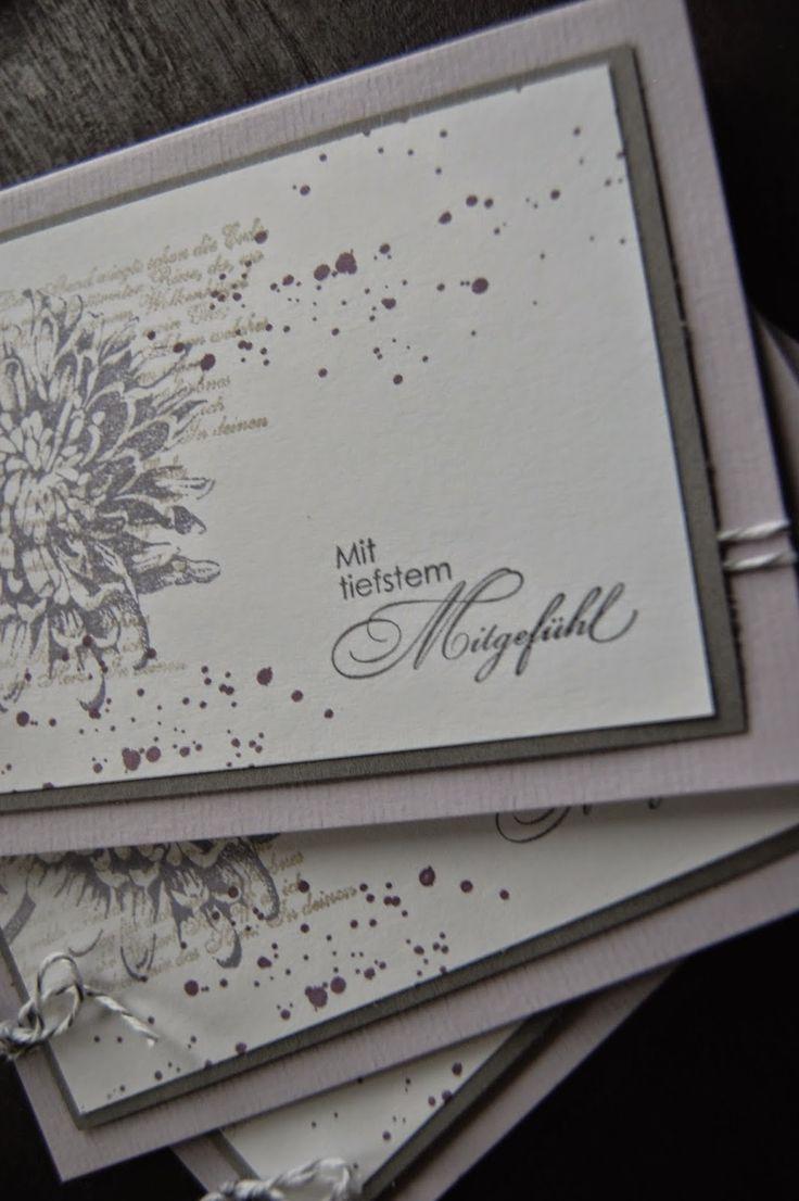 Bastelabend bei Petra, Trauerkarte, Aus dem Garten der Freundschaft, Gorgeous Grunge, Mit tiefstem Mitgefühl