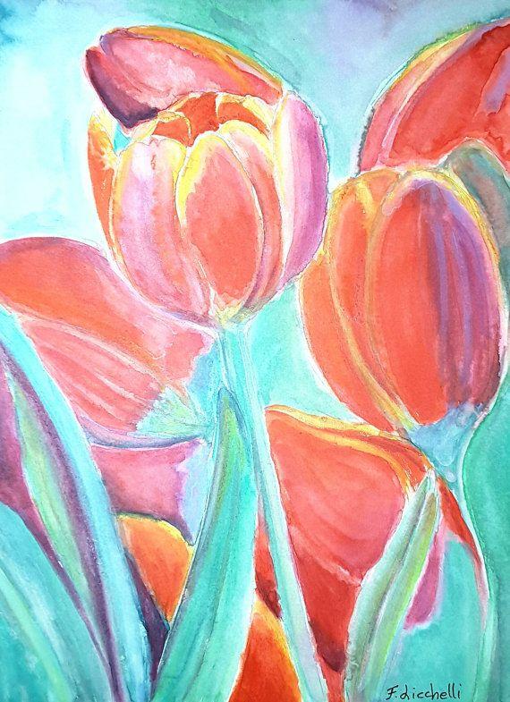 Ehi, ho trovato questa fantastica inserzione di Etsy su https://www.etsy.com/it/listing/489029874/tulipani-rossiacquerello-originalepezzo