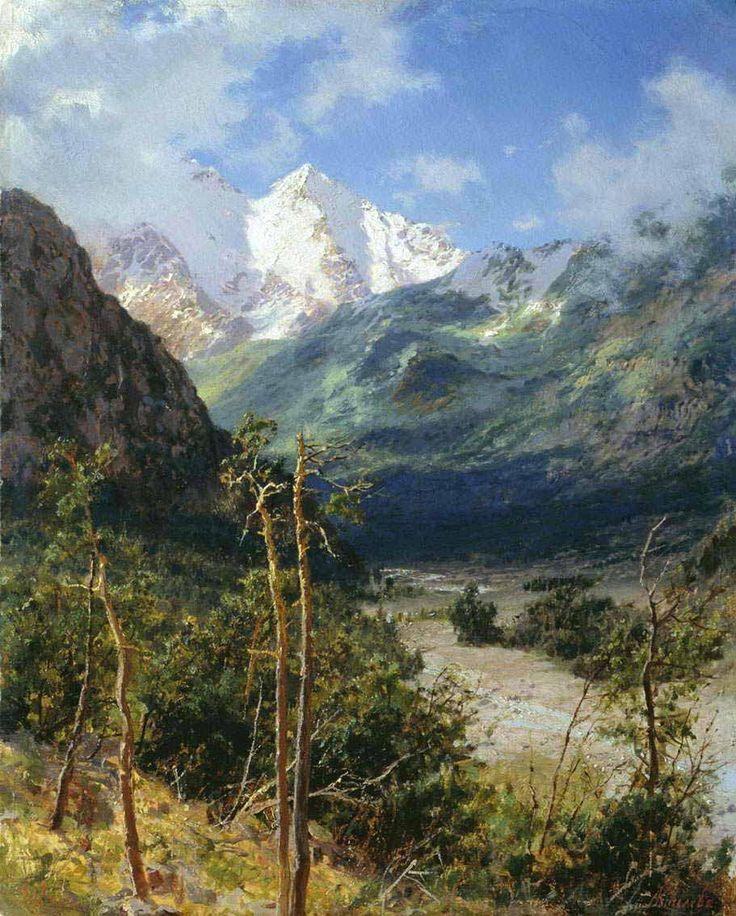 Киселев Александр Александрович. Горный пейзаж. Вершины Эльбруса
