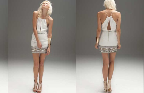 We are completely in love with the Blessed are the Meek Anaconda dress $169.95