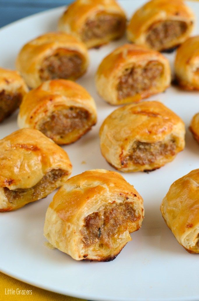 Little Grazers Caramelized Onion and Apple Sausage Rolls - baby led weaning, fussy eaters, kids meals, family meals, finger foods