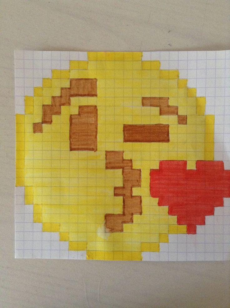 Smileys qui embrasse pixel dessin pinterest smileys - Dessins de smiley ...