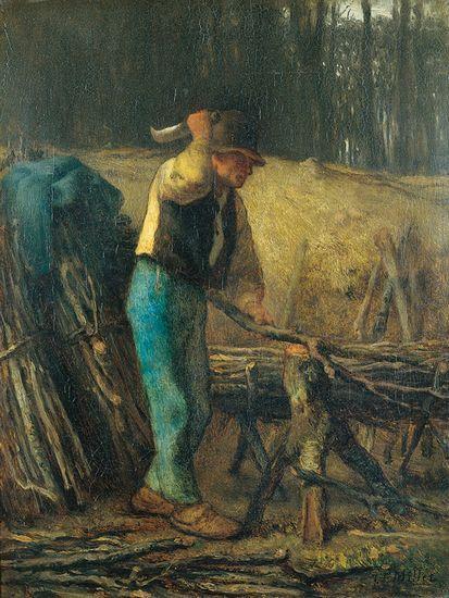Jean-François Millet - Le fendeur de bois