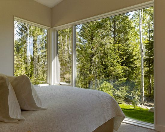 Window, Modern Bedroom Design With Neoteric Bedroom Windows Also Light  Brown Wall Paint Color Also