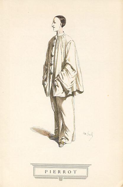 PIERROT Dall'antico carattere del Pagliaccio, frequente nelle recite a soggetto che i comici italiani, abilissimi improvvisatori, importarono in Francia, nacque nel teatro parigino dei Funamboli, ai primi dell' 800, il tipo del moderno Pierrot.