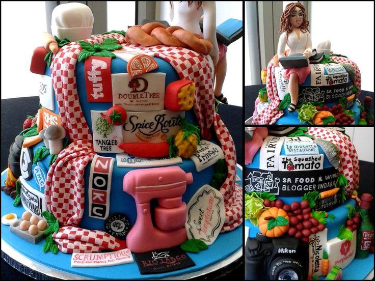 Good food and wine blogger indaba cake