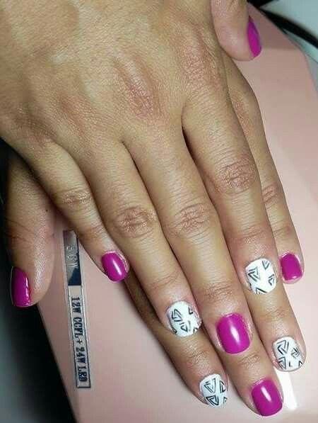 #nailart #naildesigns #pink #white #nails