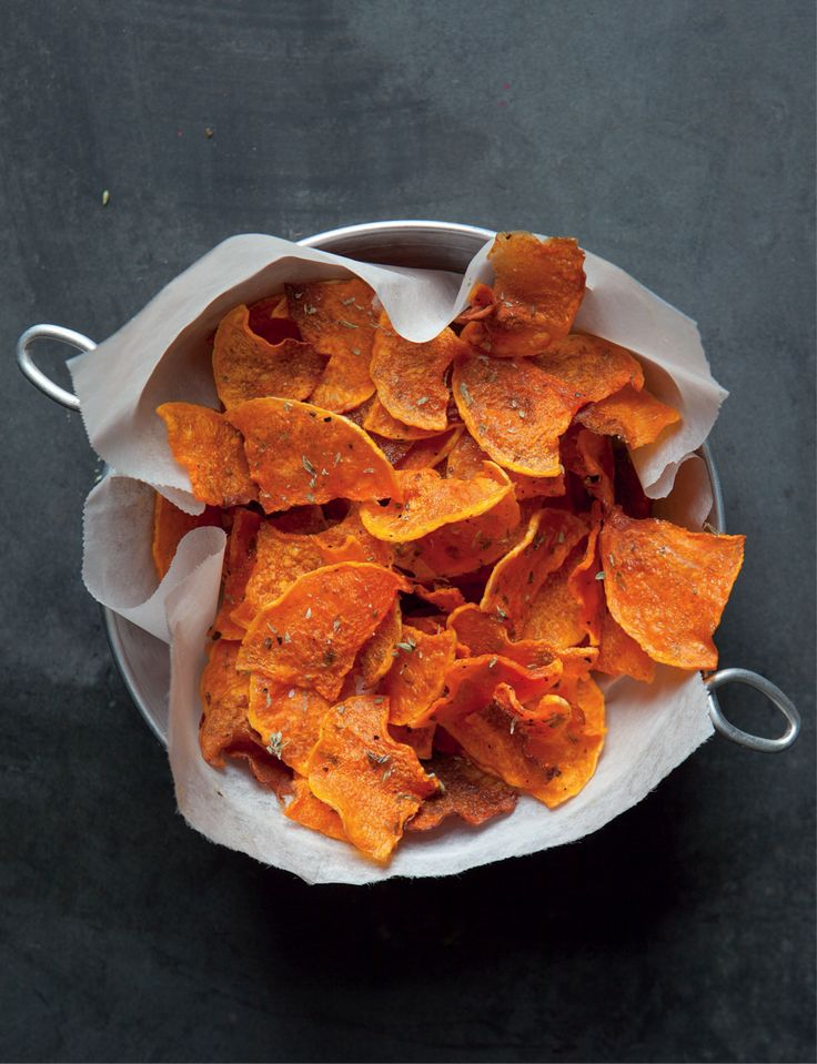 Butternut Squash Veggie Chips with Herbes de Provence