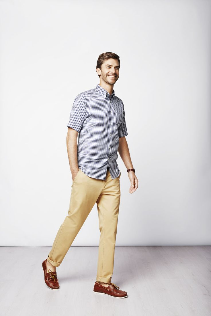 Made from lightweight cotton with a great casual feel, this classic gingham check shirt is a must.