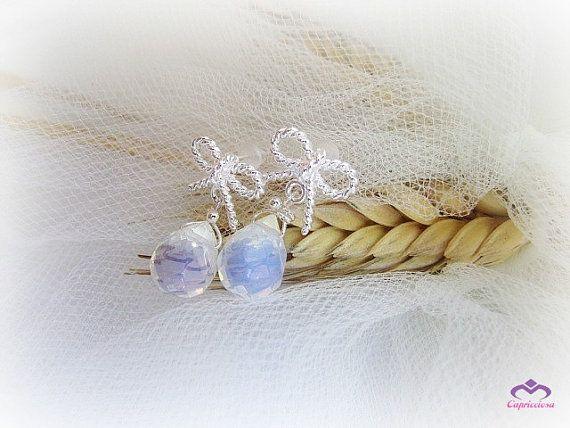 Opalite Moonstone teardrop earrings opalite by MalinaCapricciosa, $16.00