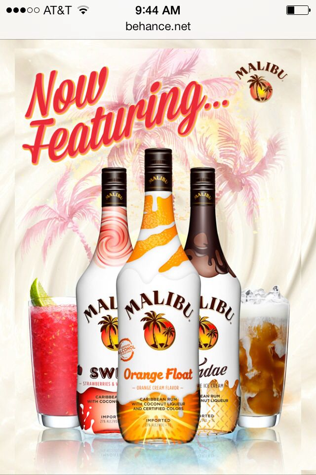 Orange Creamsicle drink! new malibu rum flavors