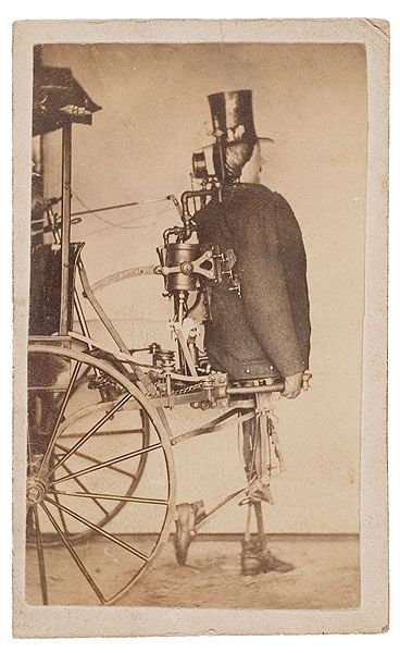 A steam-powered cart-pulling automaton, built by Zadoc P. Dederick and Isaac Grass, 1868. http://en.wikipedia.org/wiki/Zadoc_Dederick