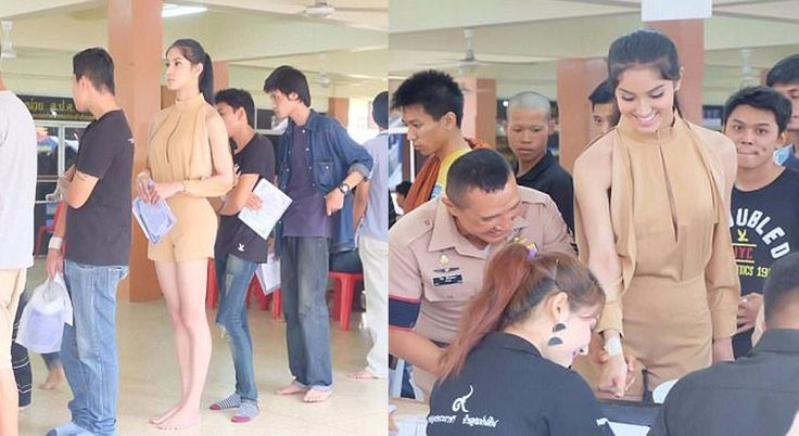 These 'Ladyboys' Shock everyone at an Army Draft in Bangkok and This is How They are Treated! - http://inewser.com/ladyboys-shock-everyone-army-draft-bangkok-treated/