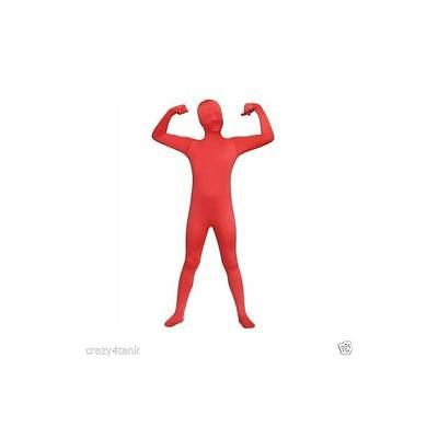 Living Fiction Boys Red Skin Bodysuit Costume, Size Medium (8)