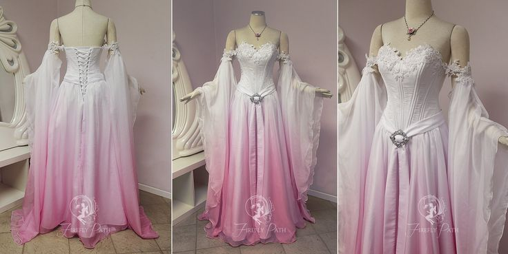 Sakura Elven Bridal Gown by Firefly-Path.deviantart.com on @DeviantArt