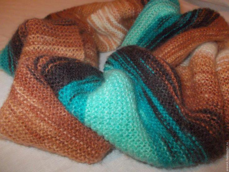 Купить Снуд вязаный - комбинированный, снуд, снуд вязаный, снуд в два оборота, шарф женский