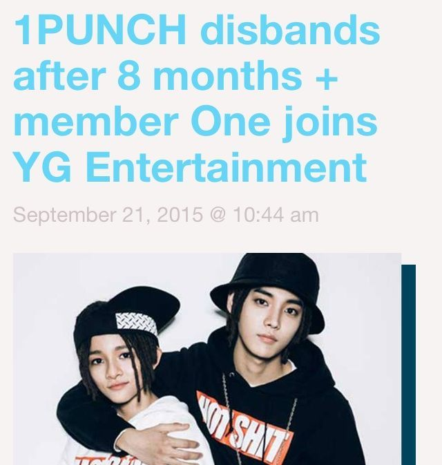 1Punch Disbands +ONE joins YG entertaiment | K-Pop Amino SO SAD  Poor Samuel,,,,l would love to see kick ass like Jay Park did  he after he left 2PM