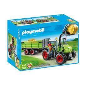PLAYMOBIL® - Grand tracteur avec remorque dès 4 ans
