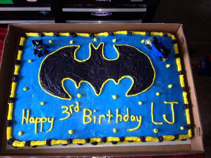 Full Sheet Batman Cake My Pins Pinterest Batman