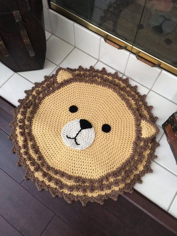 Crochet Lion Rug от PeanutButterDynamite на Etsy