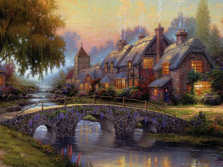 thomas kinkade paintings | Thomas Kinkade Paintings, Prints, Wall Tapestry, Oil Paintings