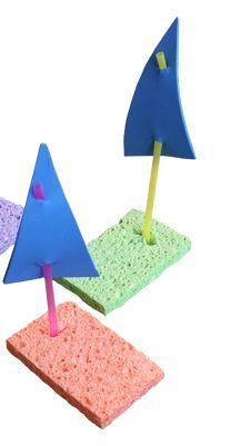 Sponge Sailboats Craft Idea For Kids http://www.chicagoparent.com