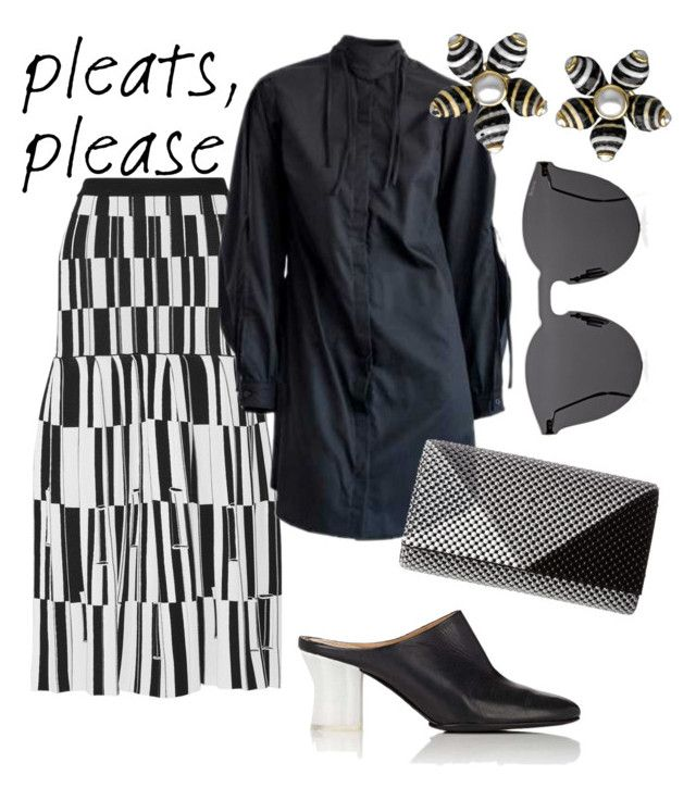 """●B&W○ stripes"" by constantinerenakossy on Polyvore featuring Proenza Schouler, Jessica McClintock, The Row, Illesteva and modern"