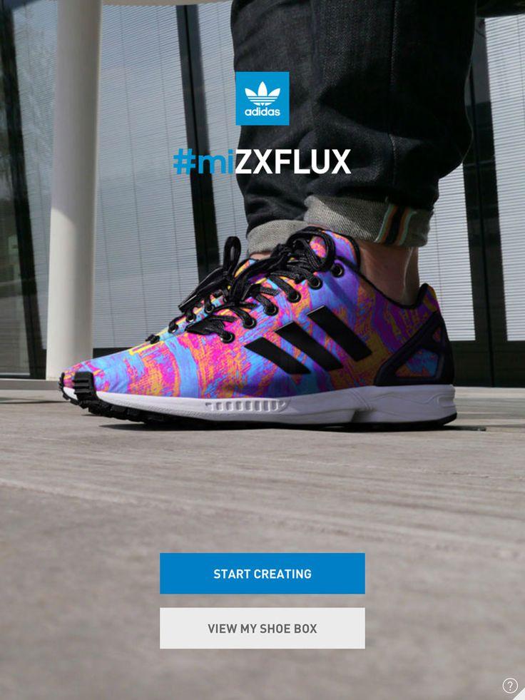 adidas Originals ZX Flux Racer Core Black/Blue Glow.uk