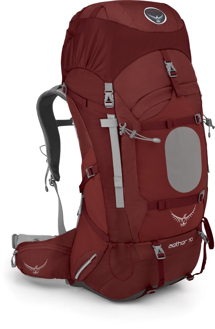 Slip the Osprey Aether 70 pack onto your back and enjoy the comfort of a custom, heat-moldable hipbelt and a superb, lightweight design for your backpacking adventures.