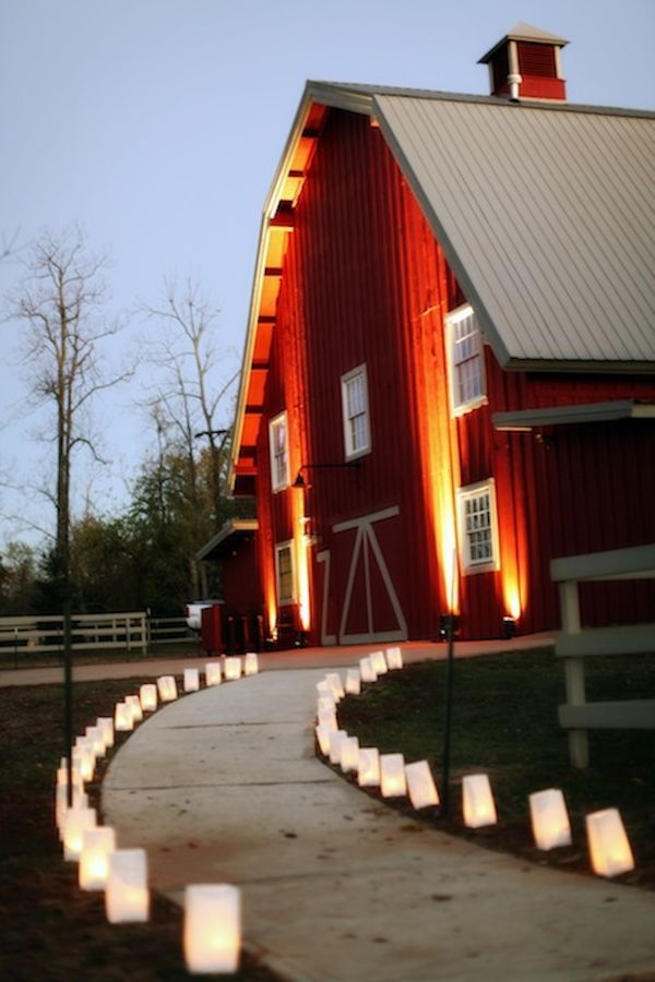 I'd get married in a barn....after all, according to my Mom, I was born in one :)