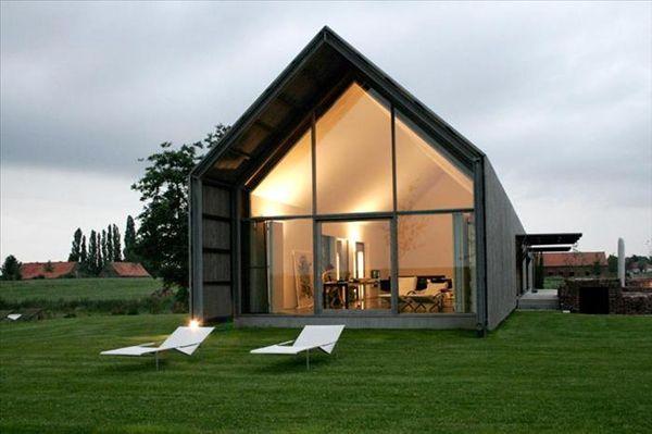 A transformed barn into a stylish home