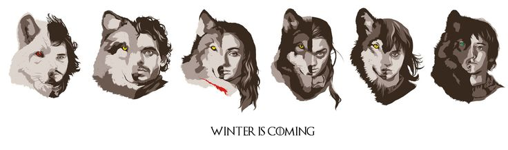 the starks and their direwolves return to fantasy pinterest wolves posts and the o 39 jays. Black Bedroom Furniture Sets. Home Design Ideas