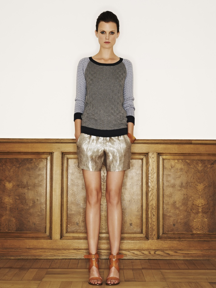 Rützou knitted sweater in storm blue