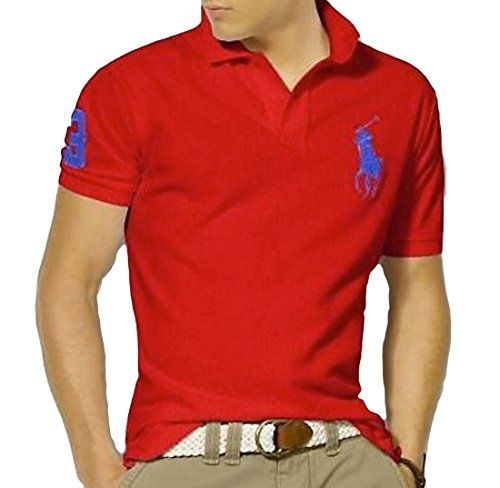 BUY NOW Polo Ralph Lauren Shirt for Men Red with Blue Big Pony Short Sleve (L) This short-sleeved polo shirt is crafted http://2015ralphlauren.tumblr.com/