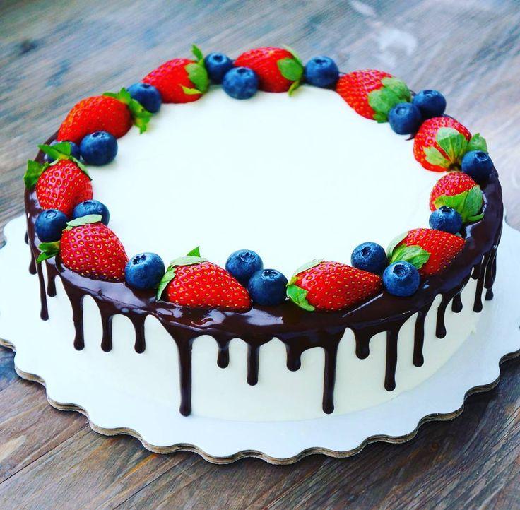 Нежные торты с фруктами