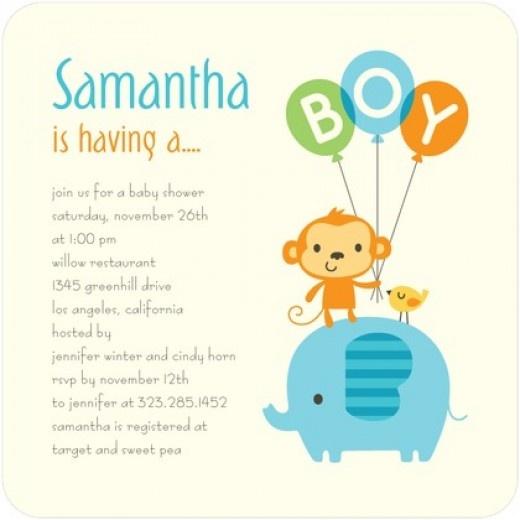 Animal #babyshower invitations...so CUTE!!! #elephant and #monkey #forboys