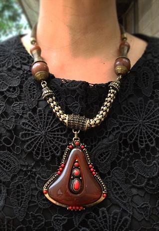 rustic ethnic necklace