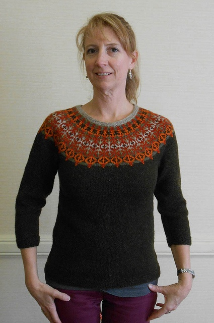 Very nice!!!! Helsinki Yoke Sweater, as knit by Feralknitter...