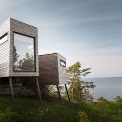 Grande baie vitrée & vue mer - Cabin-Straumsnes par Rever Og Drage Arkitekter - Tingvollvagen, Norvege